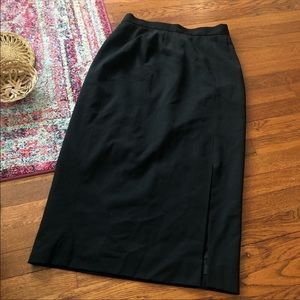 Henri bendel Black wool midi skirt